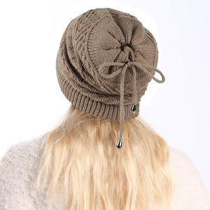 Image 3 - 2019 Ponytail Beanie Winter Skullies Beanies Caps ladies fashion multi function warm hat For Women outdoor Female Knit Hat  Z104