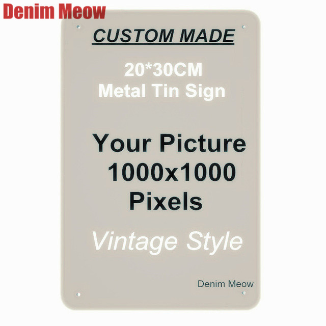 US $6 16 43% OFF|20x30cm/15x30cm/30x30cm Vintage Custom Metal Signs  Customize License Plates Retro Plaque Wall Stickers Iron Painting Home  Decor-in