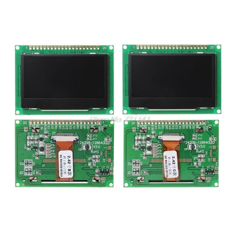 2.42 polegada OLED LCD Módulo de Tela Oled 12864 Dot I2C SPI/IIC Gráfico Destaque