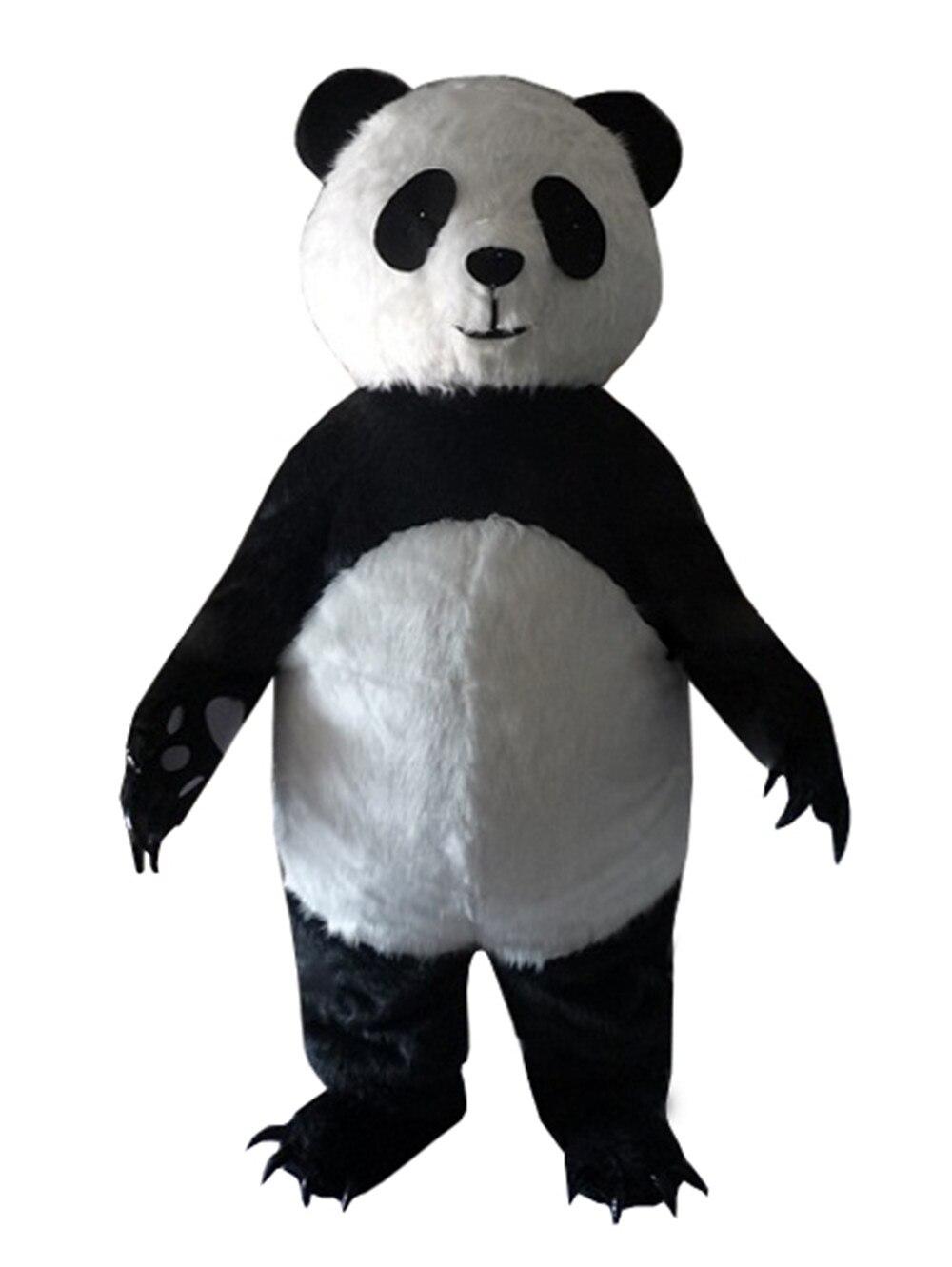 Adulte taille nouvelle version chinois géant Panda mascotte costume noël mascotte costume livraison gratuite