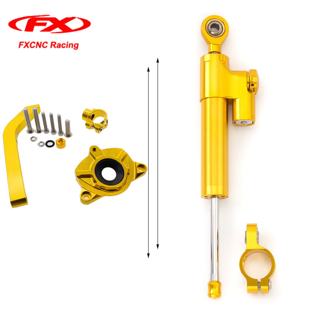 Фотография for Kawasaki Z1000 2014 2015 2016 Motorcycle Steering Damper Stabilizer Brackets with Mounted Kits  Z 1000 14-16 Aluminum Gold