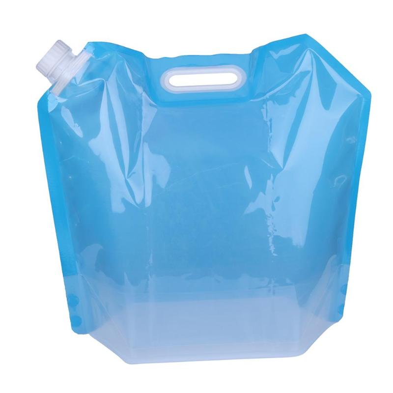 Losuya 2pcs 10L Portable Water Bag Container Space-Saving Water Carrier for Sport Hiking Camping