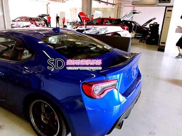 Подходит для Toyota 86 BRZ ноги mortor Спорт углеродного волокна задний спойлер заднего крыла