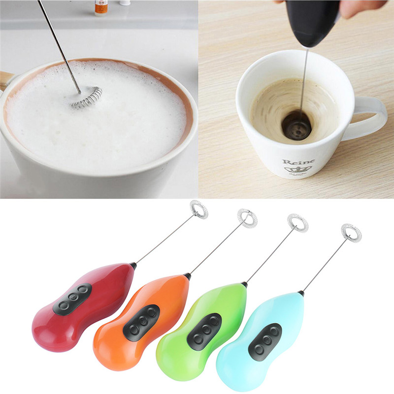 Elektrische Schneebesen Schläger Mini Griff Kaffee Milch Mixer Milchaufschäumer