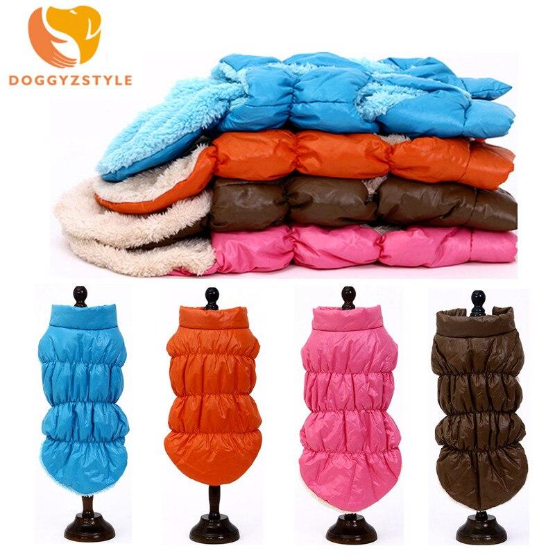 Winter Dog Coat Pet Vest Windproof Warm Clothes Pet Dog Jacket Cotton Puppy Outfit Yorkie