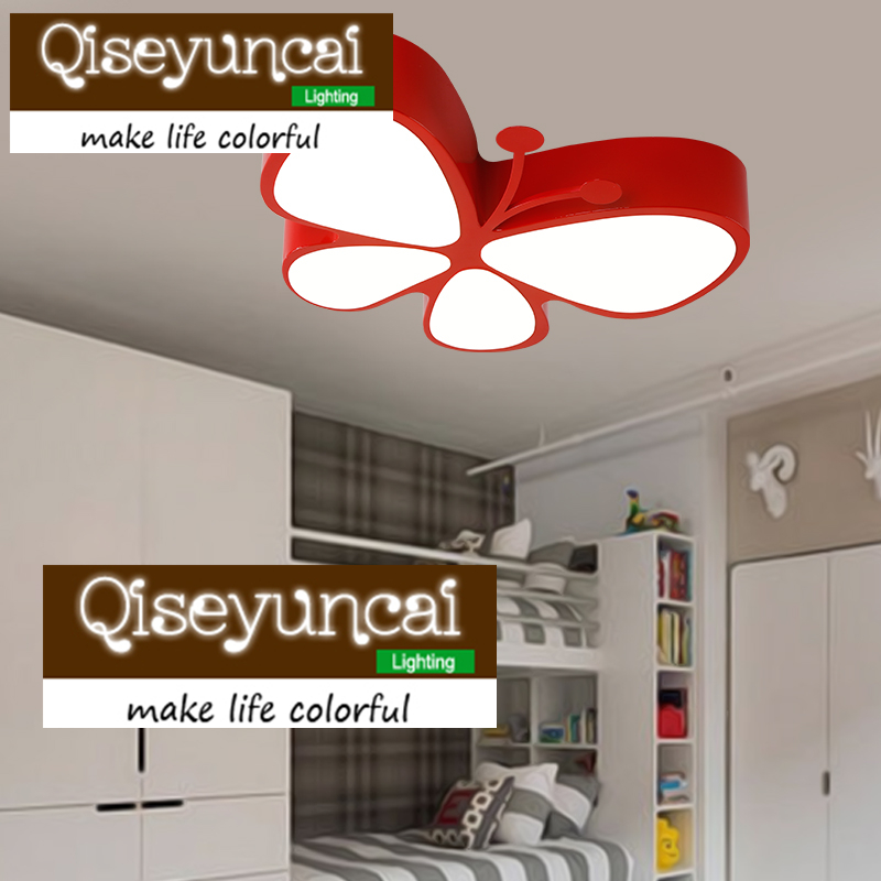 Ceiling Lights Ceiling Lights & Fans Painstaking Qiseyuncai Modern Minimalist Creative Childrens Room Butterfly Led Eye Lamp Warm Fashion Boy Girls Bedroom Study Lighting Relieving Heat And Sunstroke