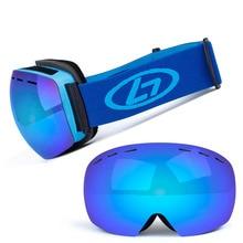 Snowboard Goggles Ski-Glasses Anti-Fog Women UV400 Spherical