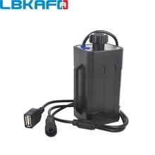 Lbkafa 4×18650 Велоспорт безопасности Водонепроницаемый Батарея Pack Чехол для корпуса сумка для хранения аккумулятора для BicycleTail свет фар войны