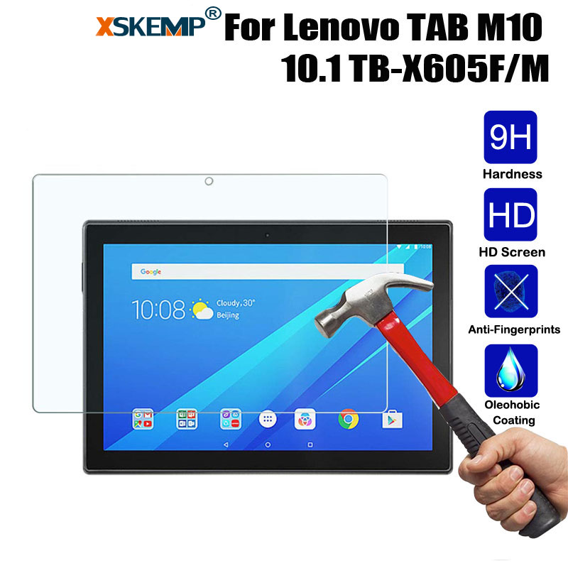 XSKEMP For Lenovo TAB M10 10.1 TB-X605F/M  Tablet PC Tempered Glass Screen Protector Anti-scratch Protective Film Guard Coverage