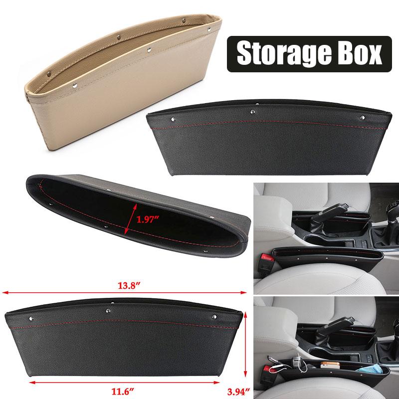 Vehemo автомобильное сиденье зазор автомобильный ящик для хранения открытка-коробка слот для монет Чехол для автомобильного сиденья зазор Карманный ящик для хранения Высокая емкость Авто
