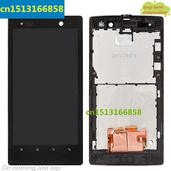 HK LCD Assembly and Touch Screen Digitizer with Front Housing for Sony Xperia Ion LTE LT28at LT28i