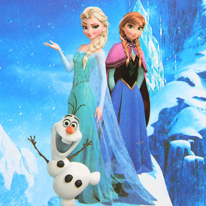 10 Unids Lote Tarjetas De Invitación De Frozen De La Princesa Suministros Para Fiestas De Cumpleaños De Los Niños Tarjeta De Felicitación Decorativa