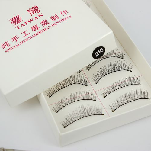 8/10/11mm 3 Size To Choose 10 Pairs Natural long Eye Lash Long Thin False Eyelashes Cross Clear Party Eye Lashes