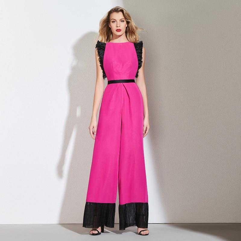 Tanpell Jumpsuit Prom Dresses Dark Plum