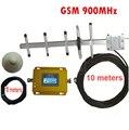 W/10 M cable + antena yagi 55dbi repetidor gsm 900 Mhz amplificador de señal GSM de refuerzo repetidor, GSM amplificador de señal de refuerzo GSM 900 mhz