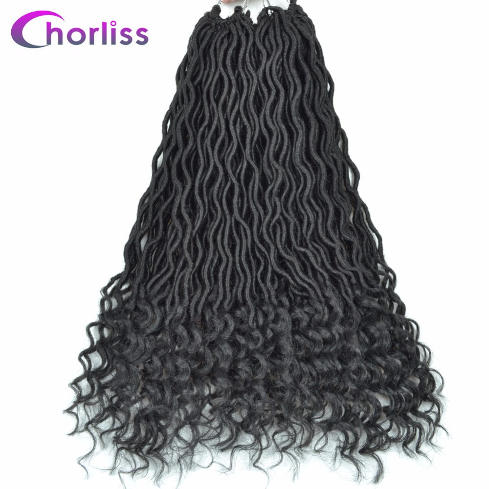 Open-Minded Chorliss 20inches Black Brown Color Synthetic Hair Extensions Faux Locs Curly Crochet Hair Crochet Braids 24strands 75g/pack Hair Braids Hair Extensions & Wigs