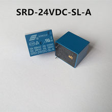 5Pcs SRD-05V 12V 24V 48VDC-SL-A Pcb Type Songle 250V 10A 4Pin Power Relais(China)