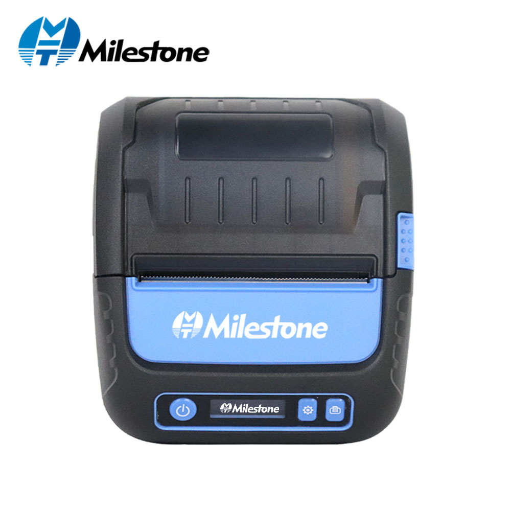 Milestone Thermal Printer Label Receipt 80mm Portabel Mini Mobile Printer Bluetooth Label Maker POS Android IOS MHT-P80F image