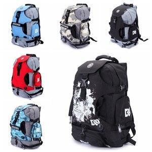 Встроенный рюкзак для коньков, сумка для роликовых коньков, рюкзак, сумка для роликовых коньков, рюкзак для взрослых, сумка на плечо