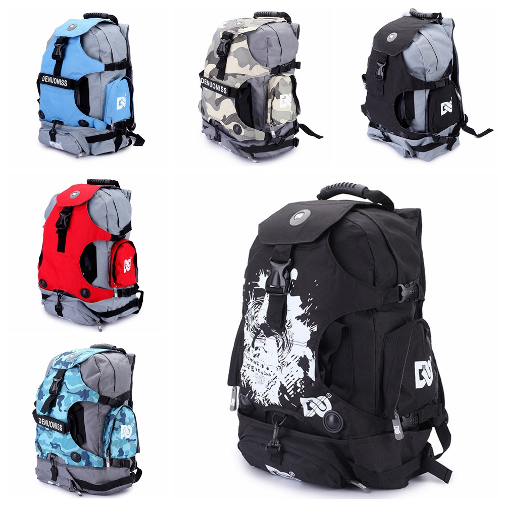 Inline Skates Backpack Bag Roller Skates Shoes Backpack Bag Rollerblade Backpack Bag Adult Knapsack Shoulder Bag
