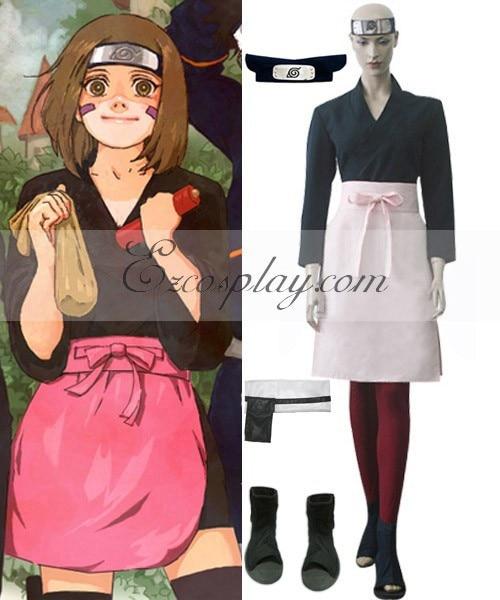 Naruto Shippuuden Rin Deluxe Cosplay Costume Set E001