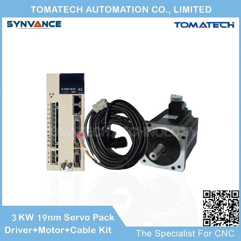 Best price and quality 180mm flange 3 0KW 1500rpm 19nm 180ST M19015 servo motor and servo