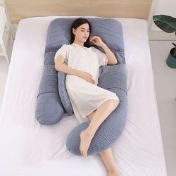 Nueva almohada de apoyo para dormir cintura Abdomen proteger embarazo almohada maternidad suministros u-shaped algodón mujeres embarazadas cojín 1pc
