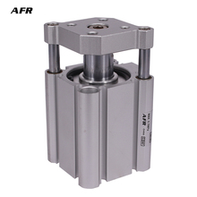 Compact cylinder guide rod type bore 40mm CDQMB40-30 CDQMB40-35 CDQMB40-40 CDQMB40-45 CDQMB40-50  Pneumatic Thin Air Cylinder mgp tcm type mgpm 40 60 3 rod 3 shaft slide bearing compact thin type air pneumatic cylinder mgpm40 60 40 60 40x60