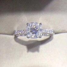 ANI 18K White Gold (AU750) Wedding Rings 0.4 ct Certified Real Diamond Elegant Fashion Ring for Lady Engagement Fine Jewelry ani 18k white gold au750 engagement ring 0 3 ct certified i si round natural diamond ring women fine jewelry for bride wedding