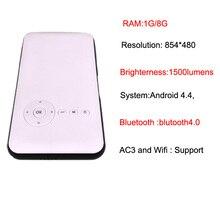 Mini Phone Projector DLP Wifi Portable Handheld Smartphone Projector Pico HD Video 1080P HDMI For Ipad IPhone 6/7 5000 mah Batte