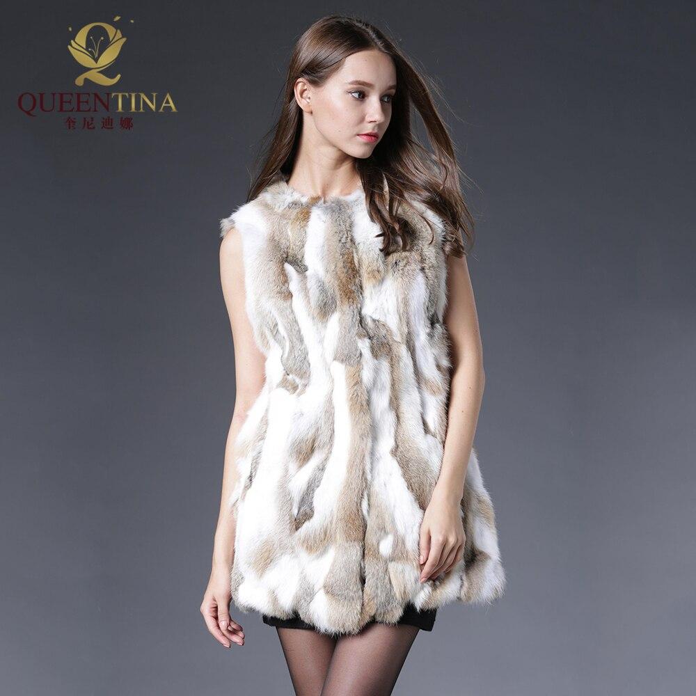 Sexy Fur Vest Women Rabbit Fur Vest Իրական մորթյա - Կանացի հագուստ - Լուսանկար 4