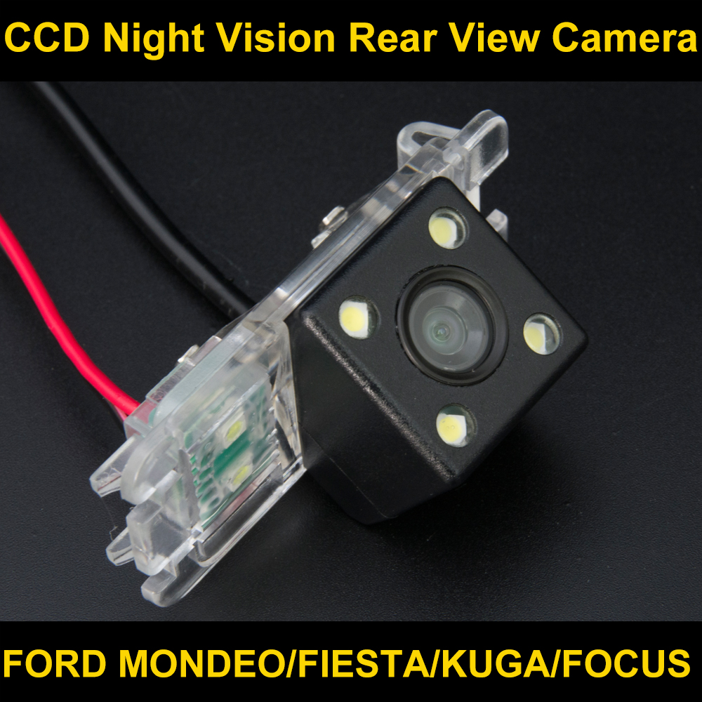 Waterproof 4 LED Rear view Camera BackUp Reverse Parking Camera for Ford Mondeo Focus Hatchback Fiesta S-Max 2007 2008 2010 2011 free shipping car rear view parking ccd camera for ford mondeo fiesta focus hatchback s max chia x kuga