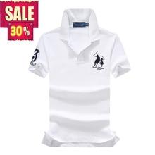 3123c6d8889 On sale pique cotton Summer brand horse mens short sleeve polos mens lapel  shirts ralphmen tops