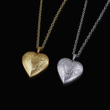 Brand Heart Locket Necklace for Women Jewelry Gold Color cadena Heart Pendant Trendy Cute Pendant Necklace Wholesale collares(China)