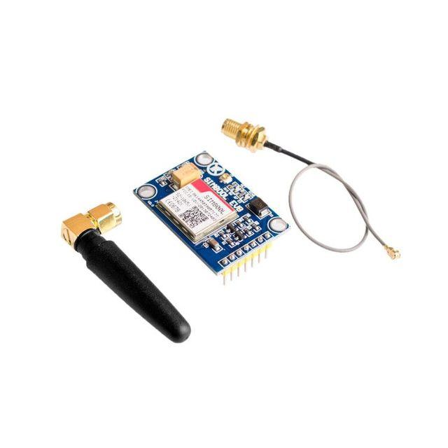 SIM800L V2.0 5 V módulo inalámbrico GSM GPRS banda cuádruple con tapa de Cable de antena