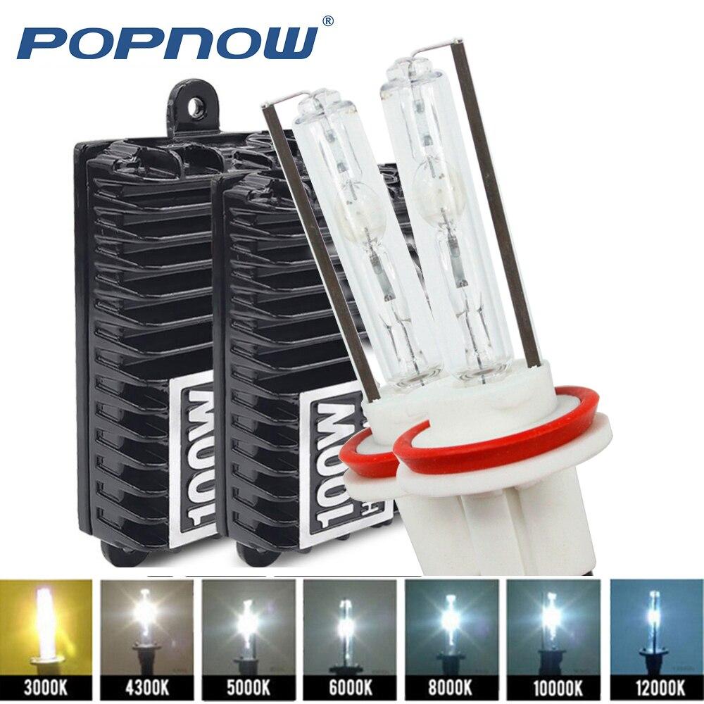 100 W xenon H7 H1 H3 H4 H8 H9 H10 H11 9005 9006 hid xenon kit haute puissance ballast électronique ampoule au xénon 4300 k 5000 k 6000 k