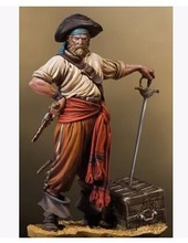 Free Shipping 1/32 Scale Unpainted Resin Figure Viking pirate