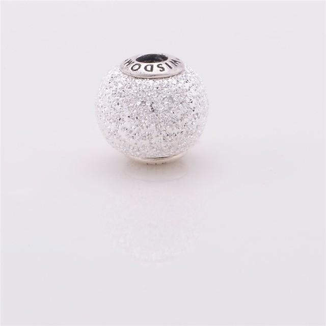 Accesorios de La Joyería DIY Perlas de Sabiduría Adapta Pandora Charms Pulseras 925 Joyería de Plata Esterlina Esencia Pequeño Agujero de Los Encantos Del Grano