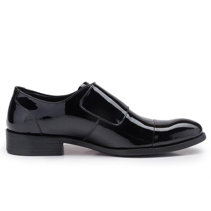 Oxfords Mann amp; Leder Black Schuhe Auf Loop Haken Eu44 Patent Kleid Männlichen Herbst Gummi Slip Schwarz Xp0xAA