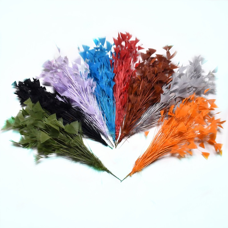 1pcs Beautiful crafts Goose feather party decorations 30CM colored Feathers wedding corsages DIY Carnival headdress Accessories