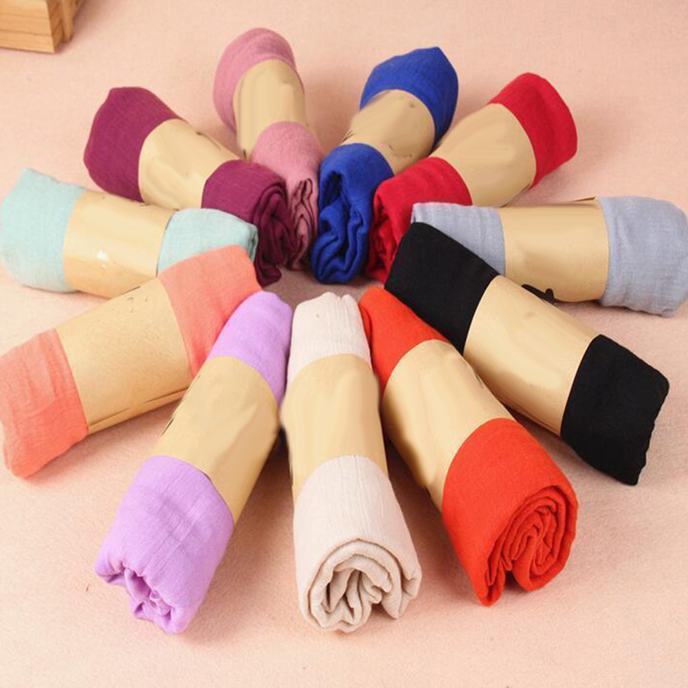 New Women Long Candy Color Soft Cotton Scarf Wrap Shawl Fashion Stole Accessory
