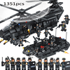 Military Army Soldier Helicopter Building Block Special Troops Compatible Legos City Police Brick For Children Toys