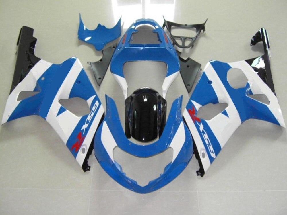 Мотоцикл ABS белый синий GSXR 1000 обтекатель тело работы для Suzuki GSXR1000 GSXR 1000 2000 2001 2002 +4 подарок