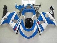 Motorcycle ABS White Blue GSXR 1000 Fairing Body Work For SUZUKI GSXR1000 GSXR 1000 2000 2001 2002 +4 Gift