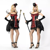 High quality Halloween costume cosplay cosplay costume Devil City female sexy dress magician costume party carnival queen prince