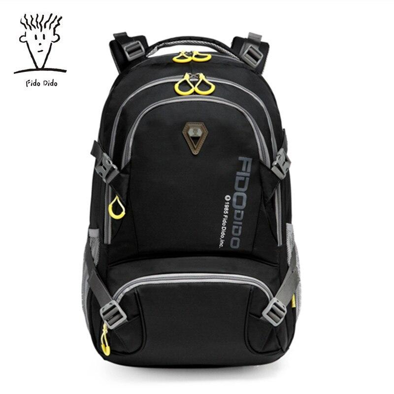 Fido Dido 2017 Brand 15.6 Inch Laptop Bag Backpack Men Large Capacity Nylon Compact Men's 17inch Backpacks Unisex Women Bagpack fido