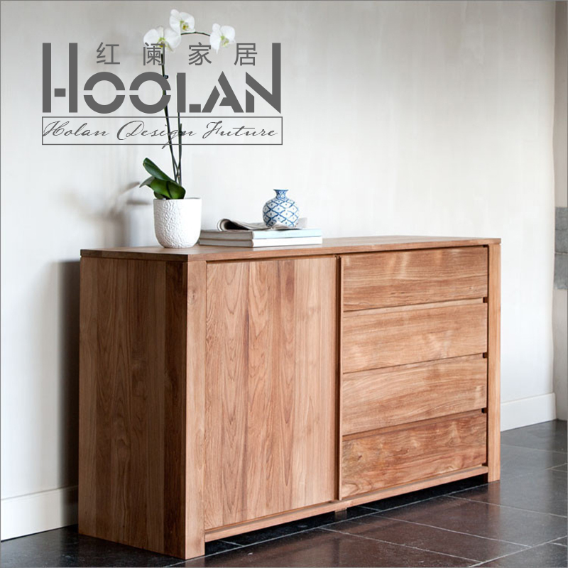 Nordic Ikea Minimalist Modern Oak Ash Wood Sideboard Lockers Cabinet  Cupboard Solid Wood Furniture In Sideboards From Furniture On  Aliexpress.com | Alibaba ...