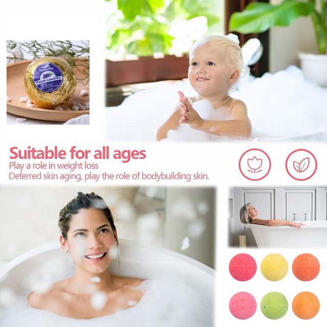 Bath Bombs Gift Set - Lush Spa Fizzies To Moisturize Dry Skin - 100% Natural Ingredients Rich Fragrances For Kids, Women & Men 4