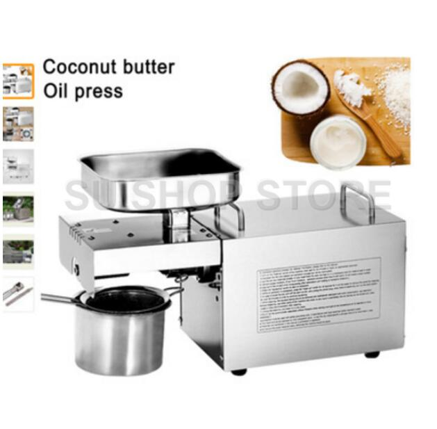 110V/220V Heat and Cold home oil press machine pinenut, cocoa soy bean olive oil press machine high oil extraction rate brand new 220v heat and cold home oil press machine peanut cocoa soy bean oil press machine high oil extraction rate page 3