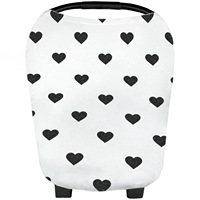 New Cotton Baby Blanket For Car Seat Cover Stretchy Breathable Canopy Infant Nursing Covers